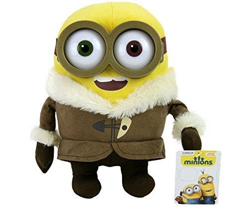 Whitehouse Leisure Peluche Bob le Minion des films Moi, moche et méchant2 et Les Minions, avec yeux en plastique de qualité, 28cm Thème: village de glace, Antarctique