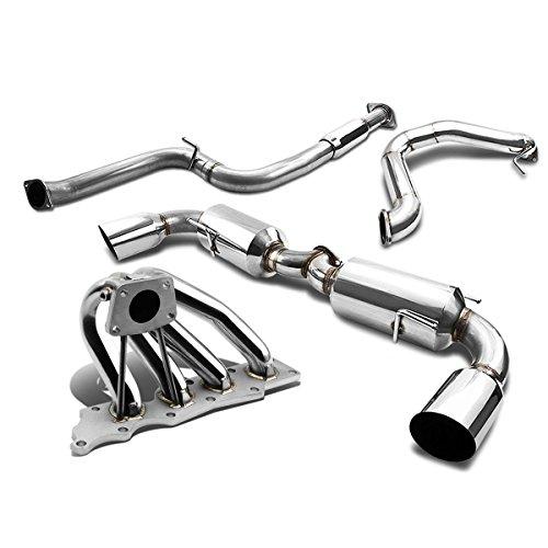 Direct Fit Rear Muffler Assembly /& Gasket For 00-04 Subaru Legacy Sedan 2.5L