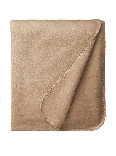Raeshmi Pure Silk Fleece Throw (Tan) front-575269