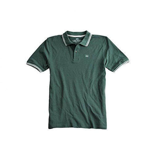 Alpha Industries Poloshirt Twin Stripe Polo II, Farbe:dark petrol;Größe:2XL