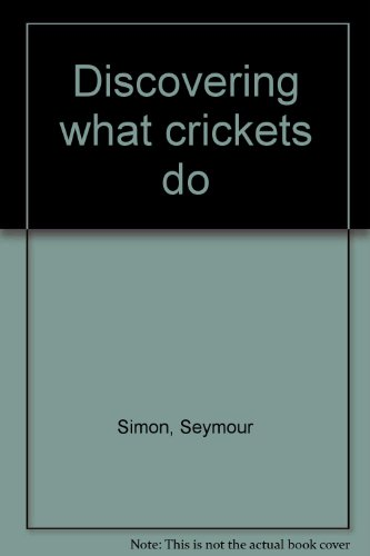 Discovering what crickets do PDF