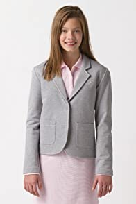 Girl's Long Sleeve Blazer with Crest