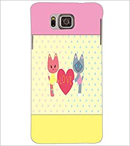 PrintDhaba Love D-1407 Back Case Cover for SAMSUNG GALAXY ALPHA (Multi-Coloured)