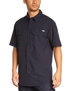 Columbia Sportswear Men's Silver Ridge Short Sleeve Shirt, Abyss, Large