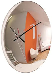 Kikkerland Spy 12-Inch Mirrored Wall Clock