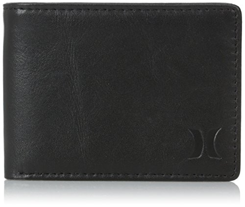 Hurley Men'S Executive Bifold Wallet, Black, One Size