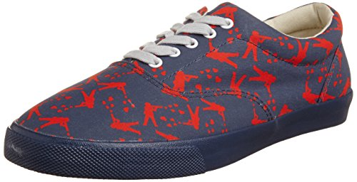 Bucketfeet Peace Warriors M, A collo basso uomo, Blu  (Blue), 42 (8 uk)