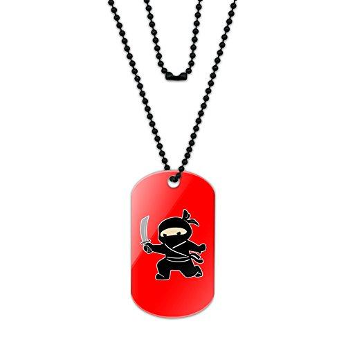 Sneaky Ninja Attacks Acrylic Dog Tag with Black Ball Chain (Sneaky Ninja compare prices)