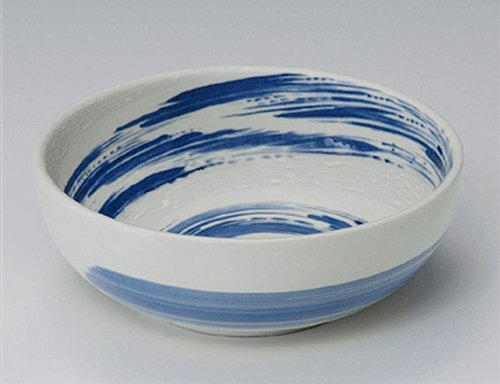 Kobiki-Seiryuu Jiki Japanese Porcelain Ramen-Bowl For Pasta Or Udon,Soba Or Salad Made In Japan