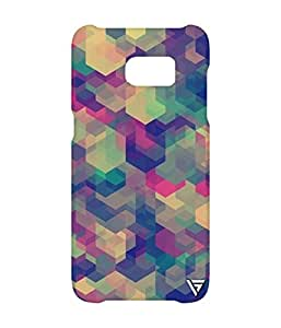 Vogueshell Multi Colour Pattern Printed Symmetry PRO Series Hard Back Case for Samsung s7 Edge