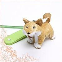 日本製アートストラップ本牛革柴犬