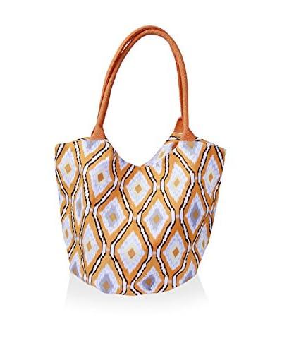 Indian Summer Women's Ikat Bucket Bag, Orange