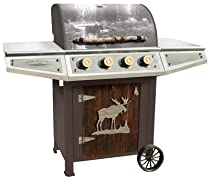 Big Sale Teton CCC100CG Classic 4 Burner Cabin Gas Grill