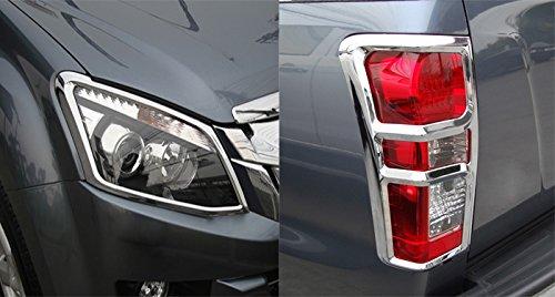 Chrome Front Headlight Rear Tail Light Lamp Cover Trim Isuzu Dmax D-Max 12 13 14