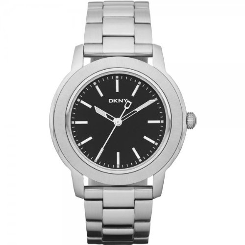 DKNY NY1502 Mens Dress Black Silver Watch