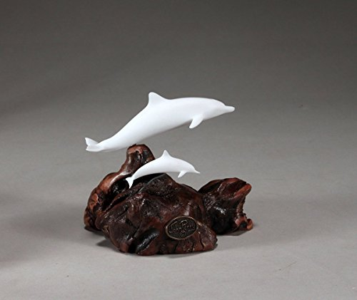 Dolphin & Calf Sculpture New Direct by John Perry Pellucida Small Version on Burl