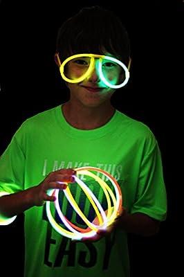 Joyin Toy 200 8'' Glowsticks Glow Stick Bracelets Glow Necklaces Party Favors Pack (Total 456 PCs)