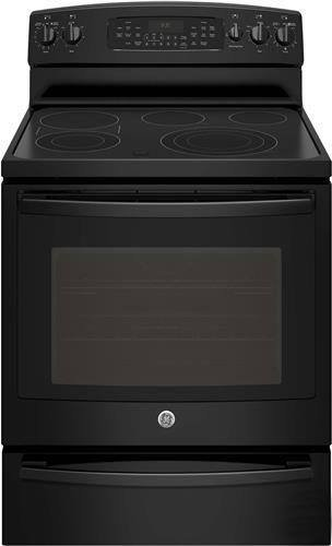 "Ge Profile Series Pb930Dhbb 30"" Freestanding Electric Convection Range With 5 Elements, Warming Drawer, True European Convection, Auto Self-Clean And Brillion-Enabled Smartphone Control"