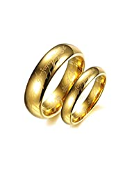 Asma Tungsten Carbide Golden Lord Of The Rings King's Rings Power Men/Women Wedding Promise Couple Ring