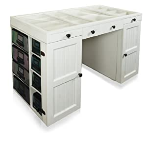 Scrapbox EZ View Craft Desk White