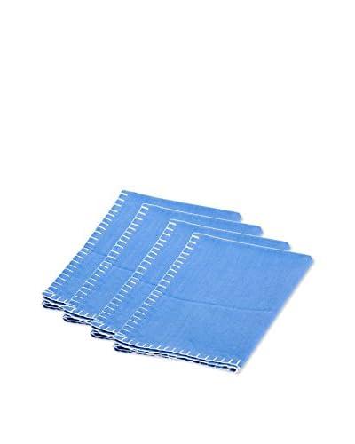 Sobremesa Set of 4 Solid Napkins, Blue