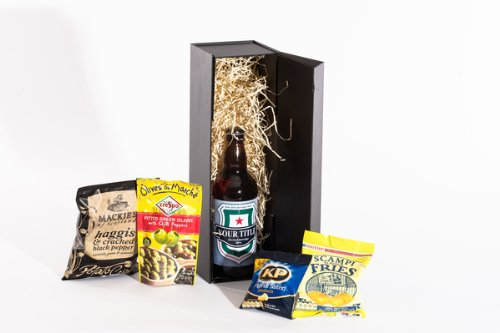 Personalised Beer Gift Box with Snacks. Great gift idea. Birthday, Anniversary, Engagement, Easter, Mother's day, Father's day, Valentine's day, Wedding or Christmas gift idea