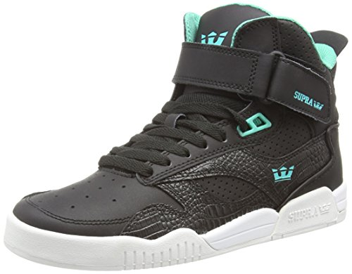 Supra - BLEEKER, Scarpe a collo alto, unisex, nero (black  / atlantis - off white   blk), 44