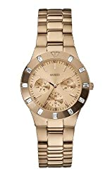 Guess Analog Gold Dial Womens Watch - W16017L1