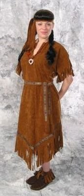 Indian Maiden Poly Suede Costume