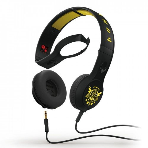 Skullcandy Cassette Headphones W/Mic Sacred Samari Black/Yellow (2012 Color), One Size