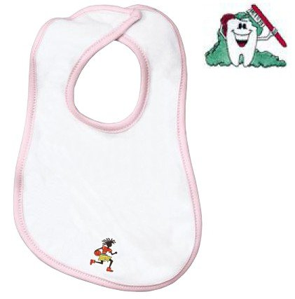Embroidered Infant Terry Bib with the image of: cleaning tooth