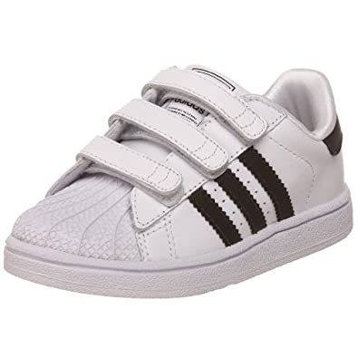 adidas Originals Superstar 2 Comfort Sneaker (Infant/Toddler),White/Black/White,4 M US Toddler