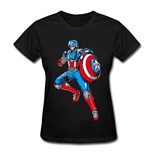 ZhaoHui Cheap No Minimum Woman Captain America Shirt
