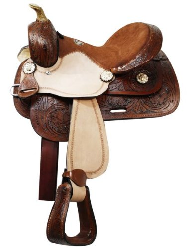 """13"""" Double T, All Leather Youth Saddle."""