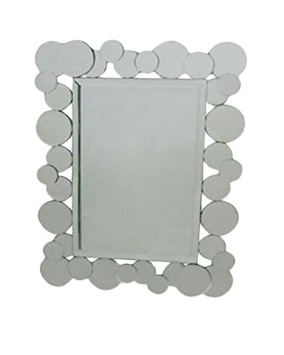 Manhattan Living Glatt Mirror, Silver