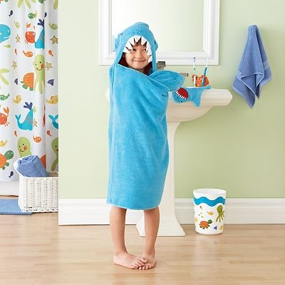 Jumping Beans Shark Bath Wrap Hooded Beach Towel
