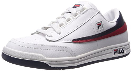 Fila Men's Original Tennis Fashion Sneaker, White/Fila Navy/Fila Red, 9.5 M US