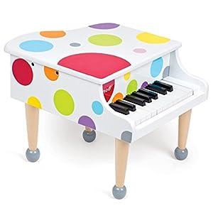 Janod - J07627 - Instrument de Musique - Piano à Queue Confetti