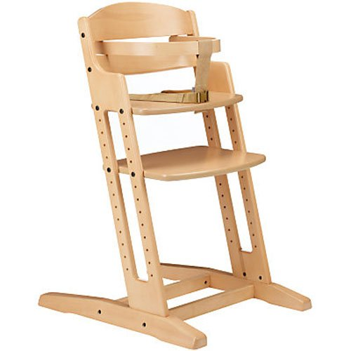 BabyDan Danchair Medium Back Wooden Highchair (Natural)