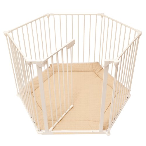 BabyDan BabyDen PlayPen White with Beige Mat