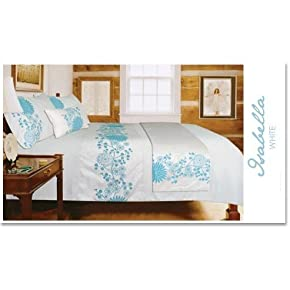 Luxury 5 Piece Bedding Set, Bed in a Bag (Isabella Teal)