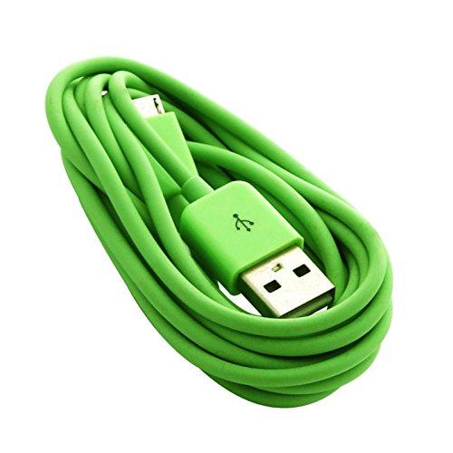 Hochwertiges 2 M grün Datenkabel micro USB Ladekabel für Huawei Ascend G526 G535 G6 4 G G600 G615 G620S G630 G700