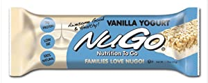 NuGo All-Natural Nutrition Bar, Vanilla Yogurt, 1.76-Ounce Bars (Pack of 15)