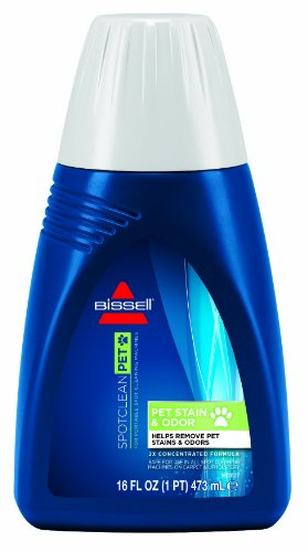 Bissell 2X Pet Stain & Odor Portable Machine Formula, 16 Ounces, 74R71