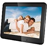 Hama Digitaler Bilderrahmen Slimline Basic (20,32 cm, 8 Zoll, SD/SDHC/MMC-Kartenslot) mit Nachtmodus, Uhr und Kalender, schwarz
