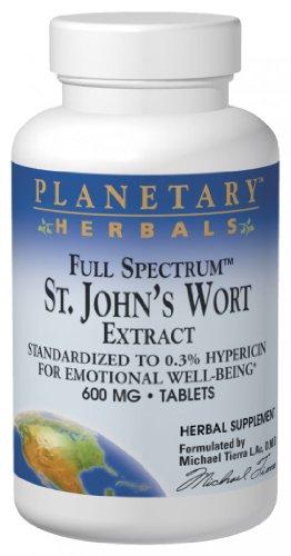 Planetary Formulas St. John'S Wort Extract, Full Spectrum, 600 Mg, Tablets, 120 Tablets