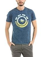 HOT BUTTERED Camiseta Manga Corta Nahua (Indigo) (Azul Marino)