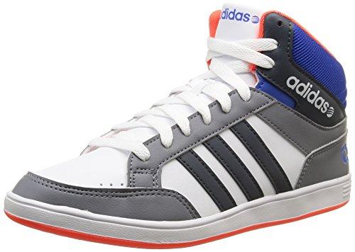 Adidas Hoops Mid Scarpe per bambini, Ragazzo, Multicolore (Ftwr White/Bold Onix/Blue), Taglia 38