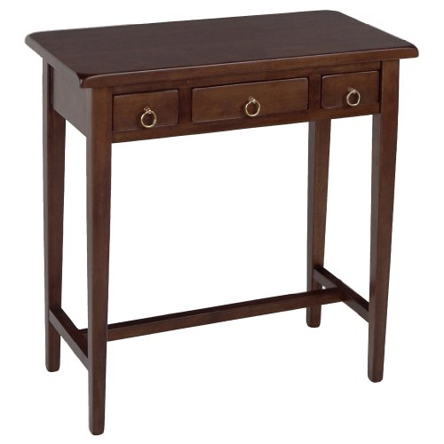 winsome-wood-hall-table-with-3-drawers-walnut