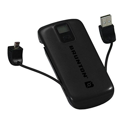 Brunton #Metal-BK Metal 4400 Power Pack AC/USB Charging Device, Black